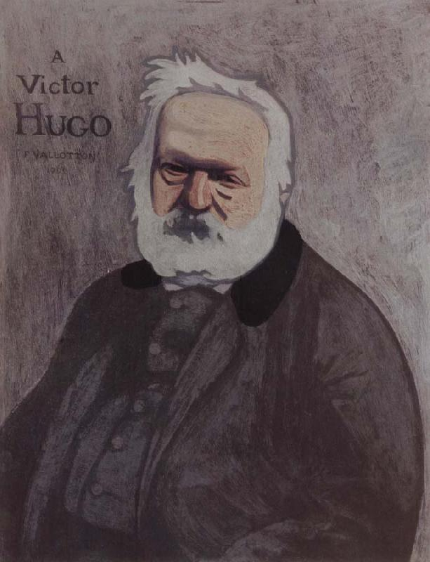 Felix Vallotton Portrait decoratif of Victor Hugo