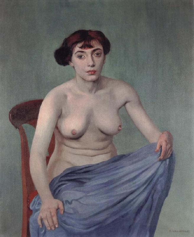 Felix Vallotton Torso with blue cloth