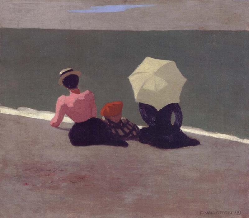 Felix Vallotton on the beach