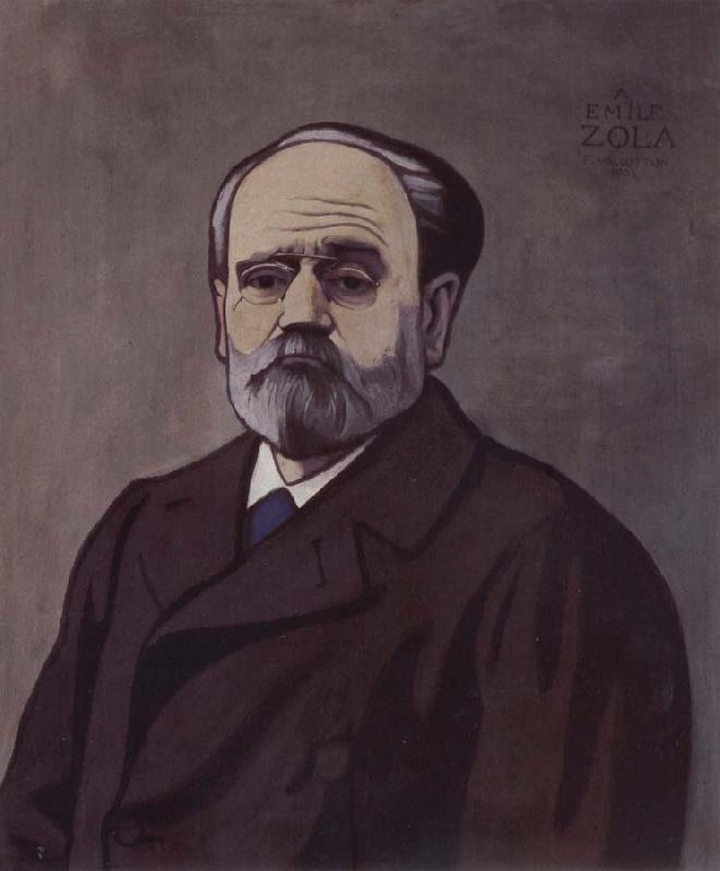 Felix Vallotton Portrait decoratif of Emile Zola