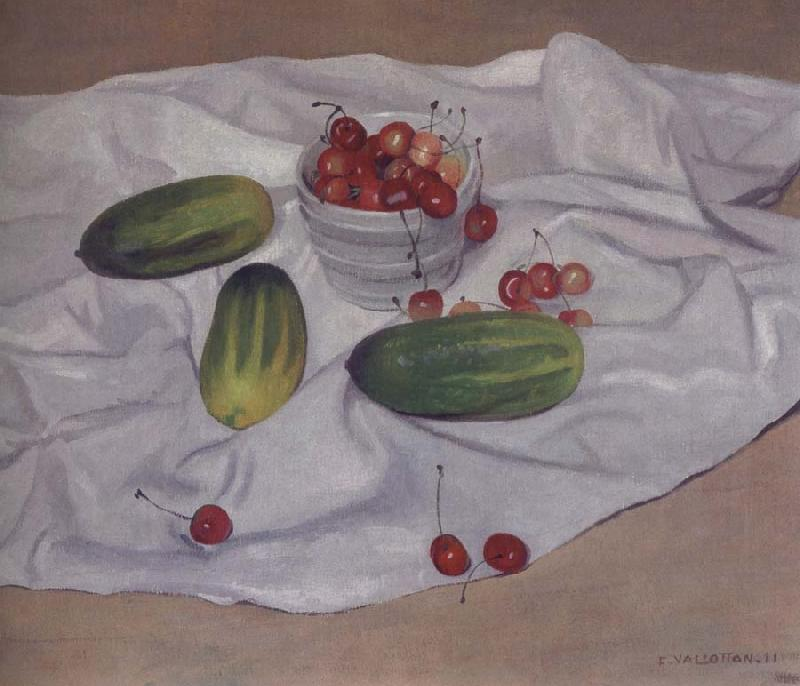 Felix Vallotton Still life with Cucumbers