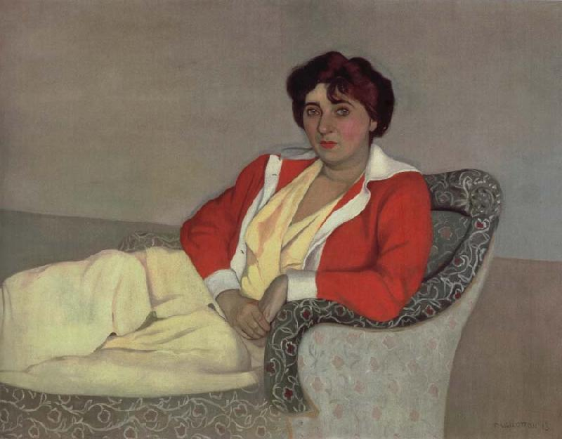 Felix Vallotton The Red Cardigan