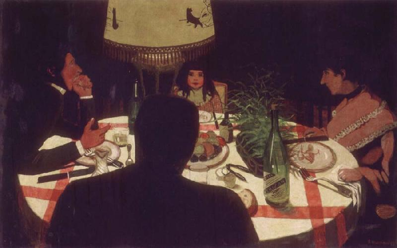 Felix Vallotton Dinner,Light Effect