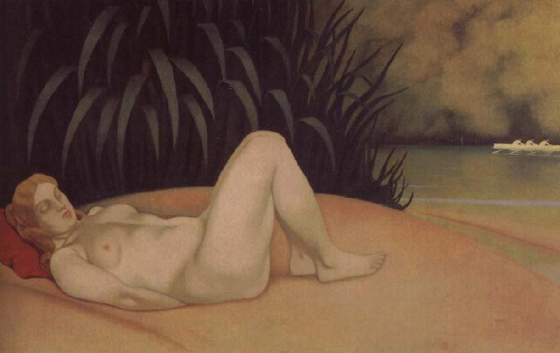 Felix Vallotton Nude sleeping on a bank