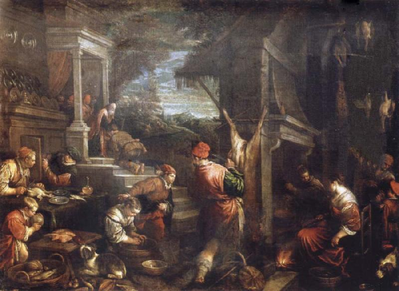 Francesco Bassano the younger The homecoming de lost of son into the father house
