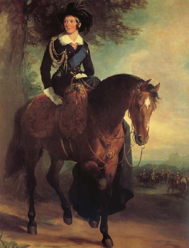 Francis Grant Portrait of Queen Victoria on Horseback