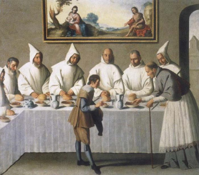 Francisco de Zurbaran The miracle of the hl. Hugo