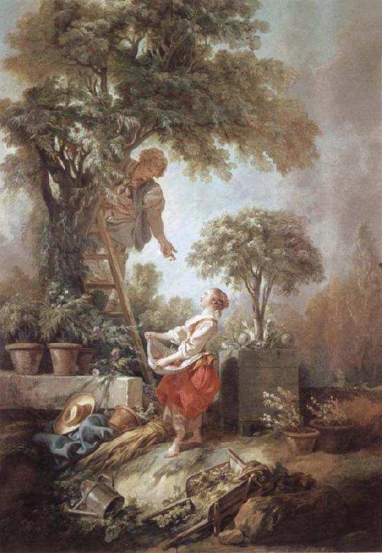 Francois Boucher Landscape with Kirschpfluckerin