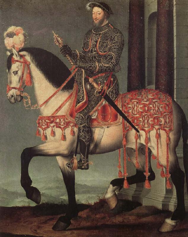 Francois Clouet Franz i from France to horse