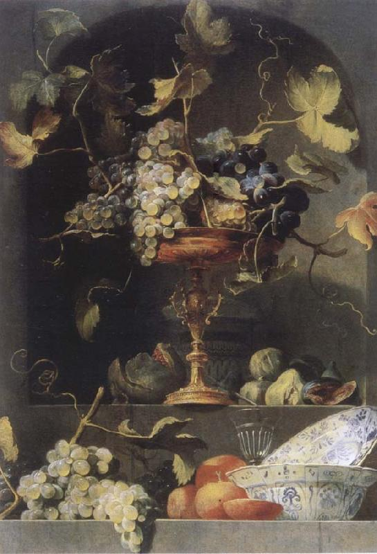Frans Snyders Style life with fruits in a niche