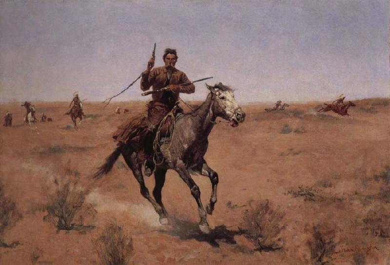 Frederic Remington The Flight