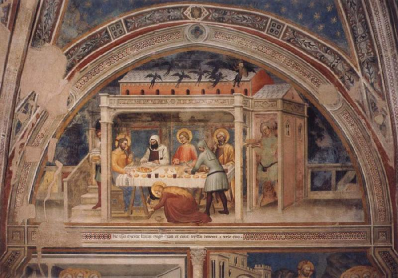 GIOVANNI DA MILANO Scenes out of life Christs  Christ in the house Simons, 2 Halfte 14 centuries.