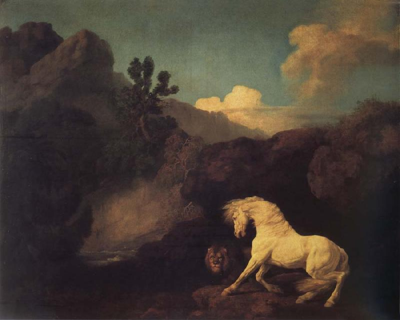 George Stubbs A Horse Frightened by a Lion oil painting image
