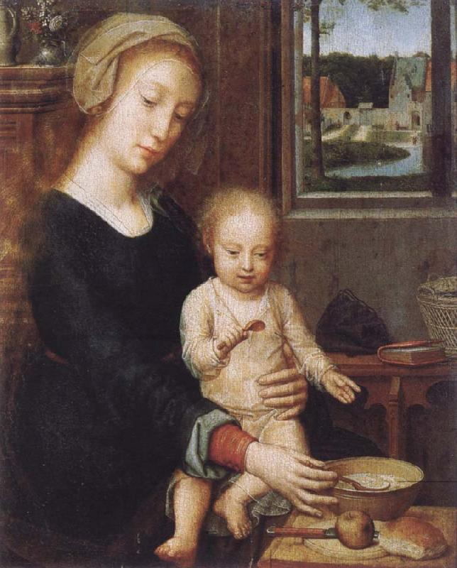 Gerard David Maria with child