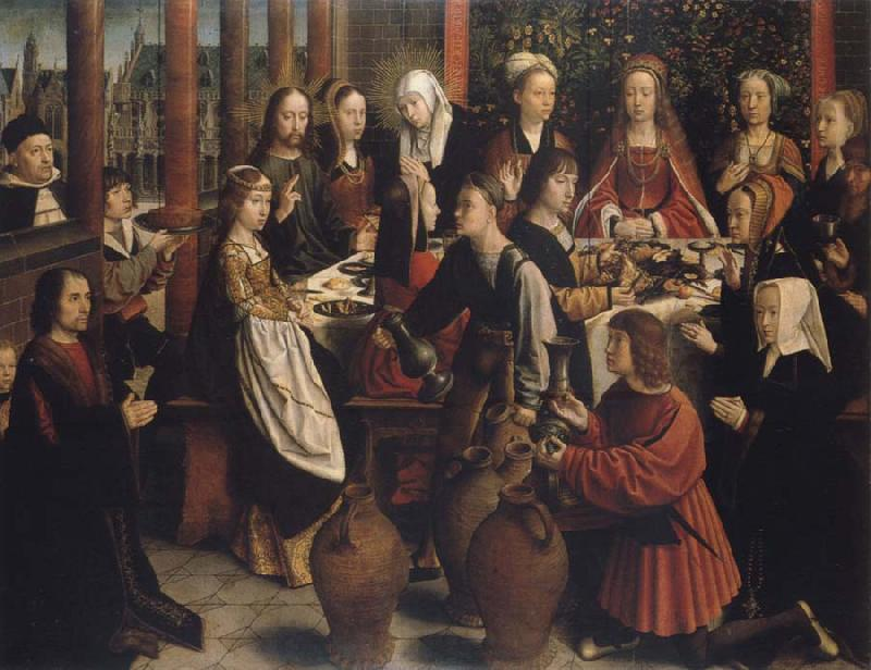 Gerard David The wedding to canons