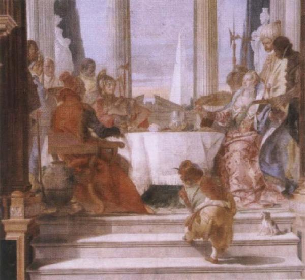 Giambattista Tiepolo The banquet of the Klleopatra