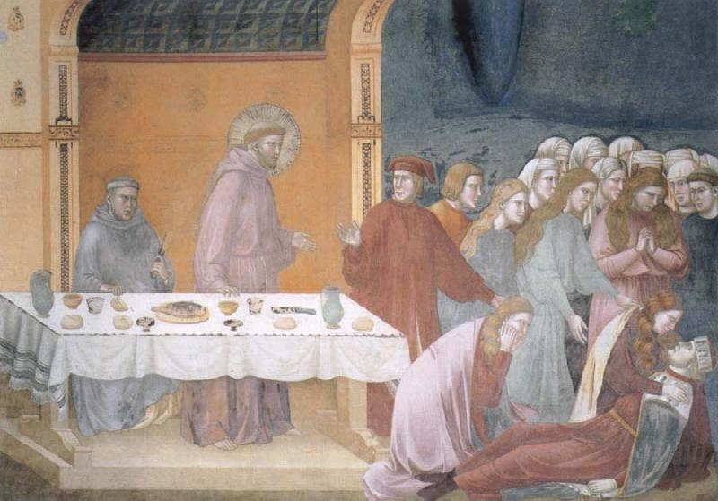Giotto The death of the knight of Celano