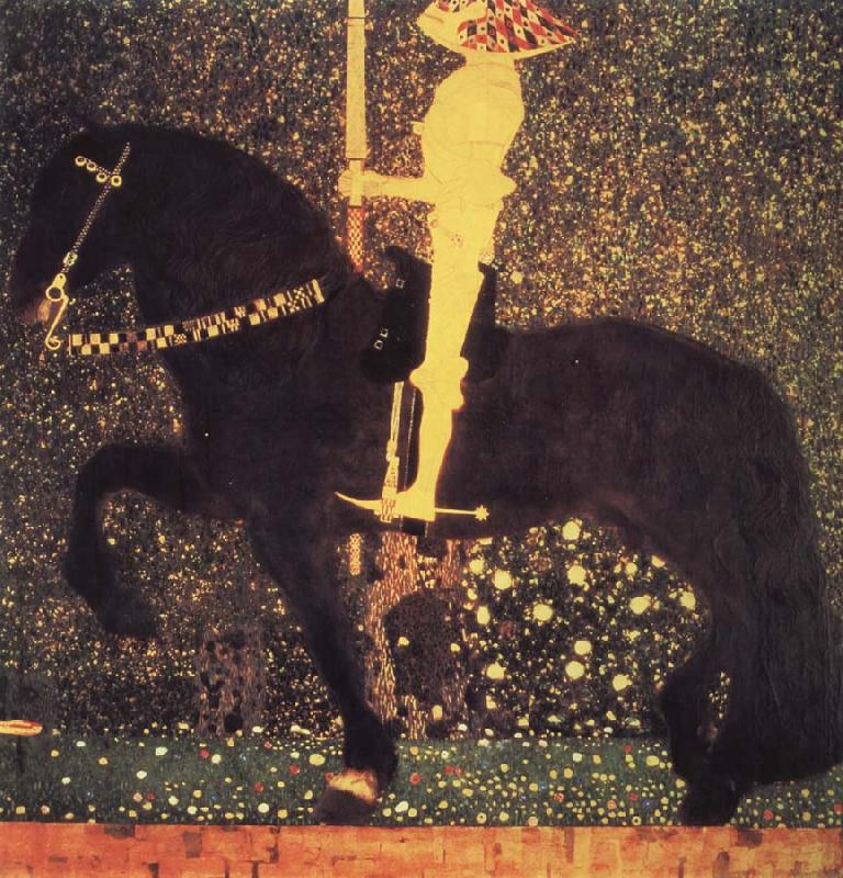 Gustav Klimt The golden knight
