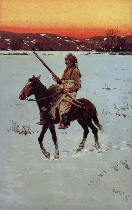 Henry F. Farny Indian Returning from the Hunt