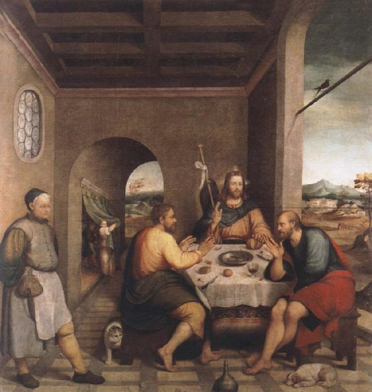 Jacopo Bassano The meal in Emmaus