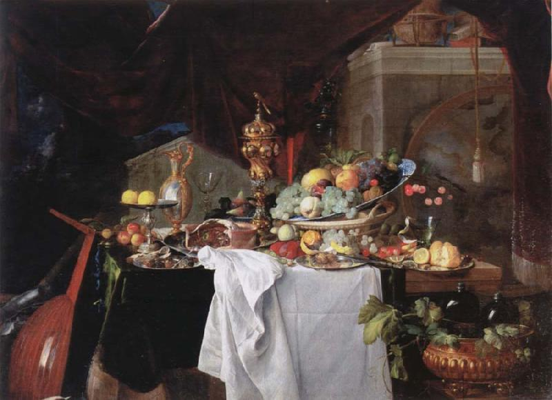 Jan Davidz de Heem Table with desserts