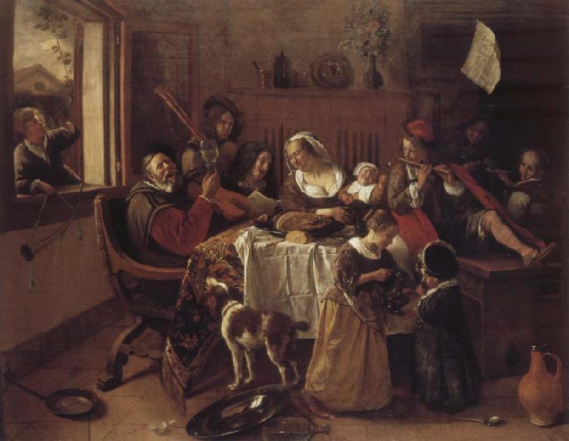 Jan Steen The cheerful family