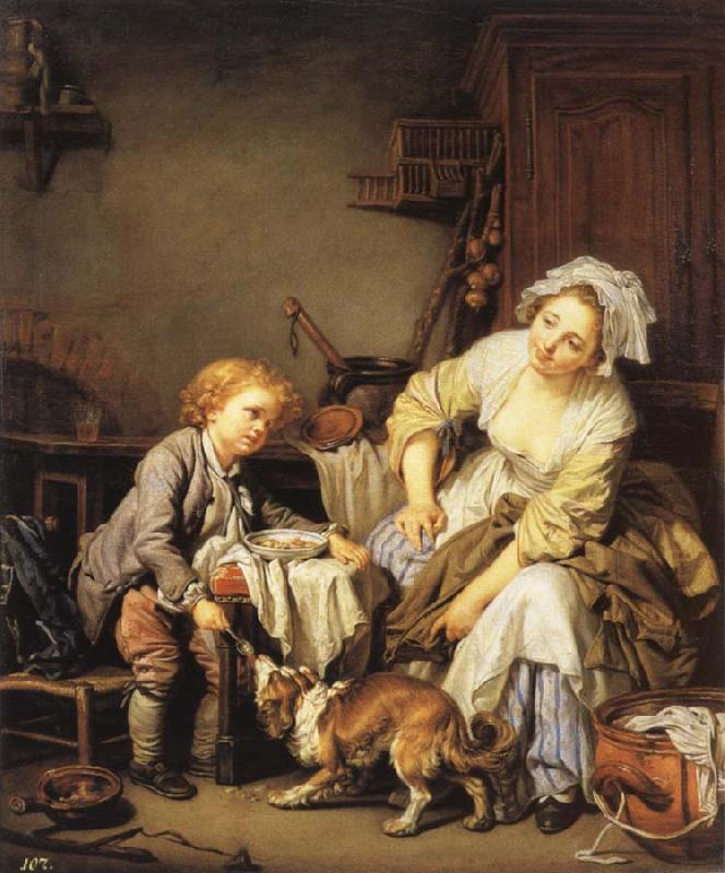 Jean Baptiste Greuze The Verwohnte child