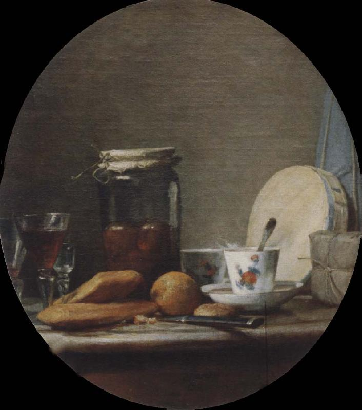 Jean Baptiste Simeon Chardin The pot with apricots