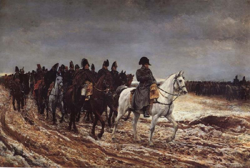 Jean-Louis-Ernest Meissonier Napoleon on the expedition of 1814