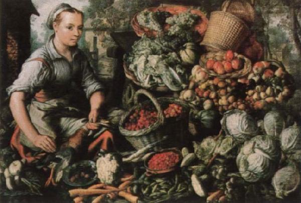 Joachim Beuckelaer Museum national market woman with fruits, Gemuse and Geflugel