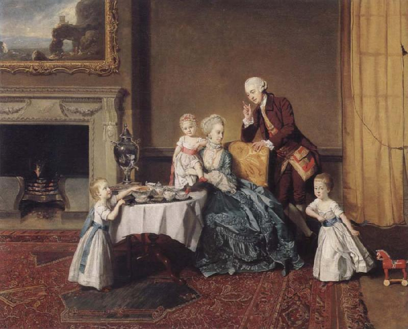 Johann Zoffany The visit in the lord