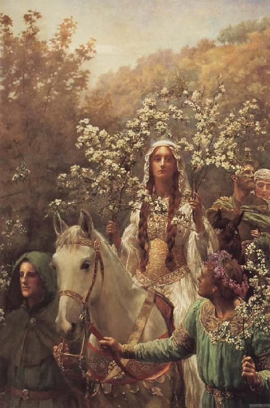 John Collier Queen Guinever-s Maying