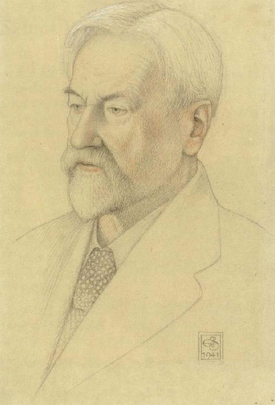 Joseph E.Southall Study for Portrait of Henry W Nevinson LLD.LittD