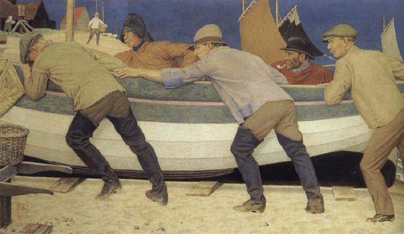 Joseph E.Southall Fishermen and boat