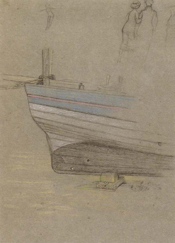 Joseph E.Southall Study of the Stern of a Fishing Boat