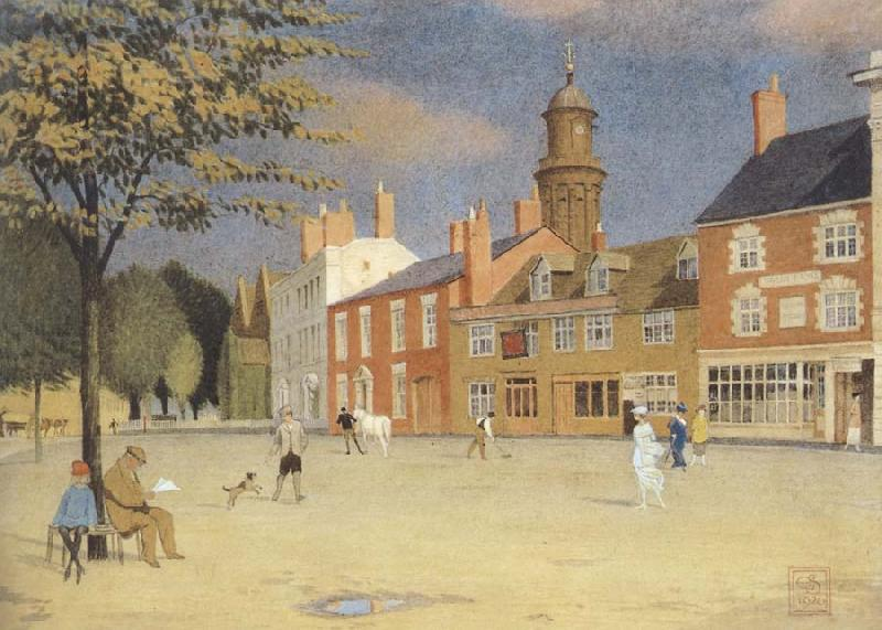 Joseph E.Southall The Green at Banbury