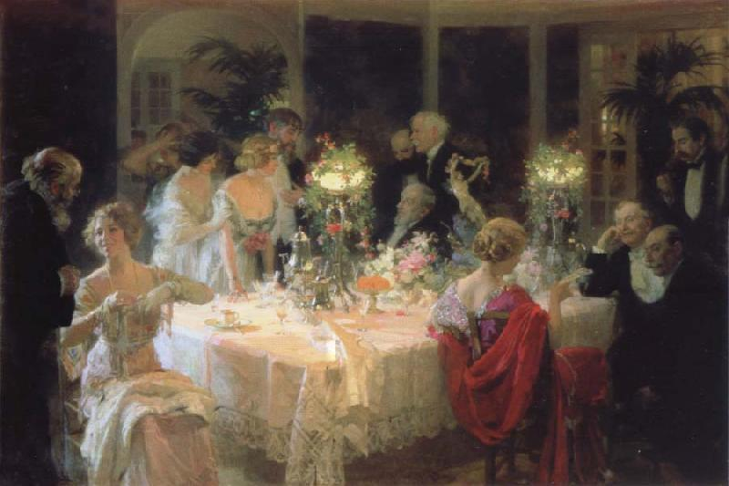 Jules-Alexandre Grun The end of the supper