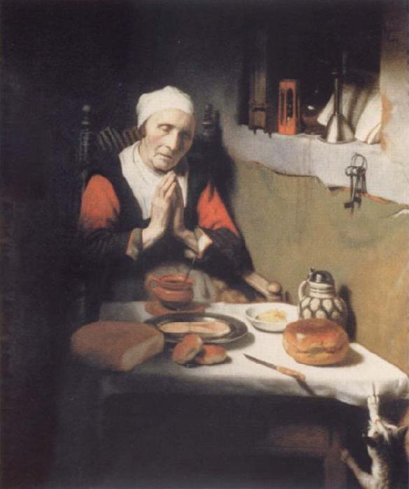 MAES, Nicolaes Old praying woman