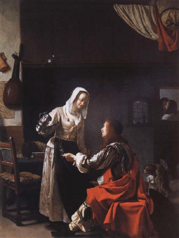 MIERIS, Frans van, the Elder Tavern scene