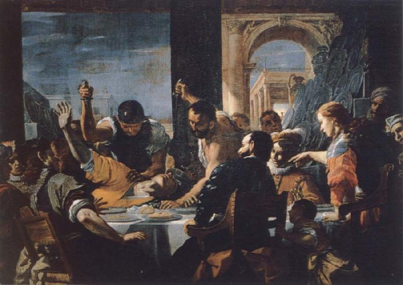 Mattia Preti The guest meal Abschaloms