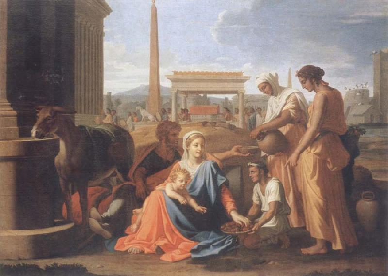 Nicolas Poussin The hl, Famile in Agypten