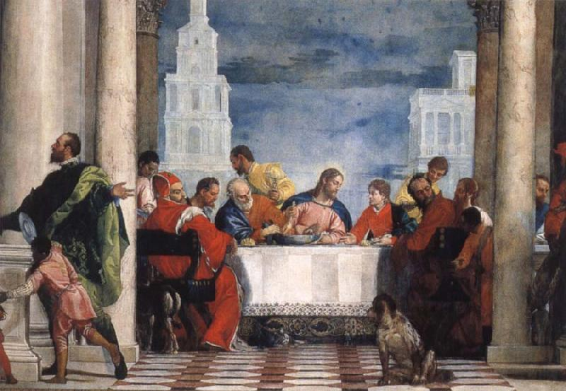 Paolo Veronese the guest meal of the Levi