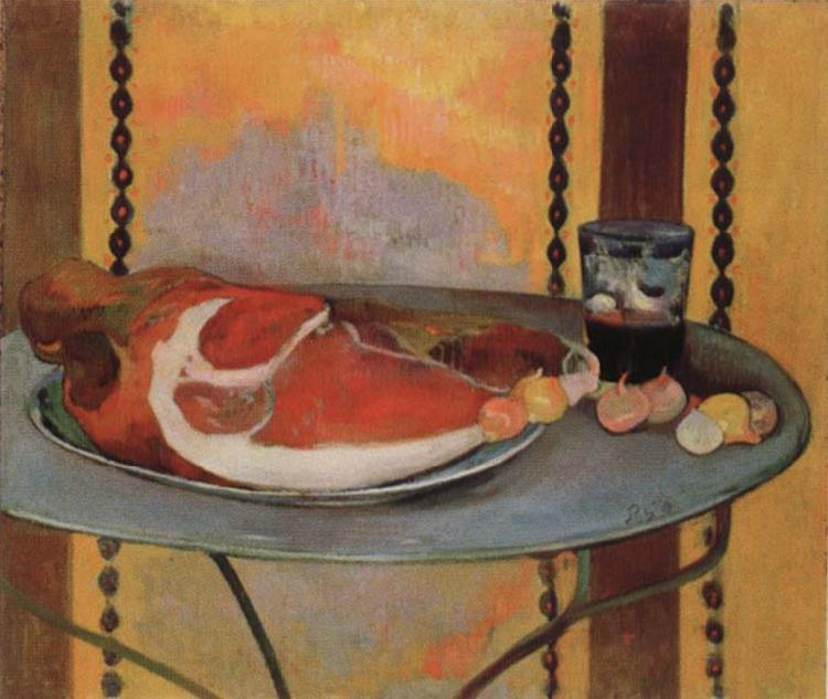 Paul Gauguin Style life with ham