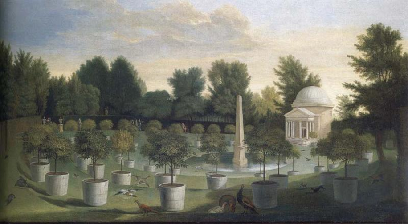 Peter Andreas Rysbrack View of thte Orange Tree Garden