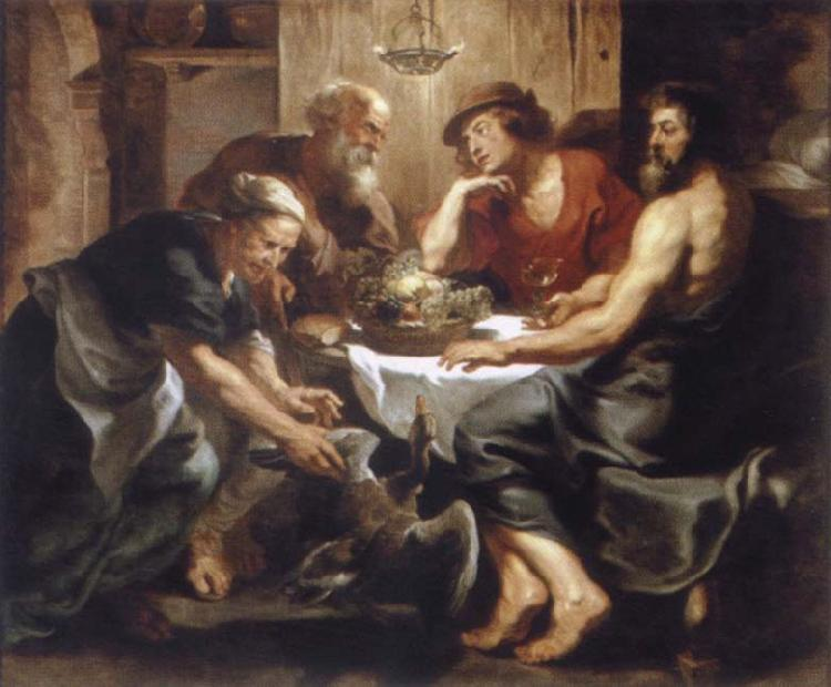 Peter Paul Rubens Workshop Jupiter and Merkur in Philemon