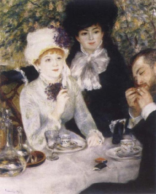 Pierre-Auguste Renoir At the end of the Fruhstucks