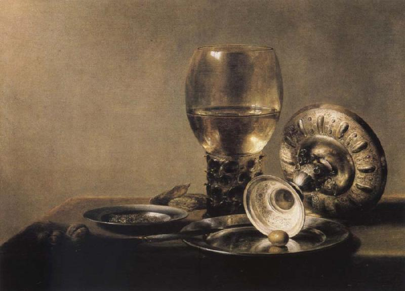 Pieter Claesz Museums national style life with Romer and silver shell