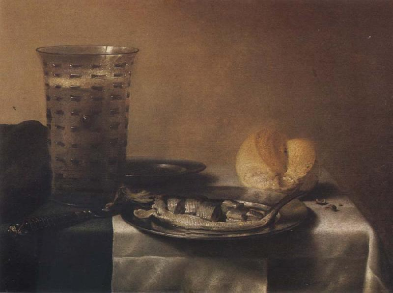 Pieter Claesz Style life with herring