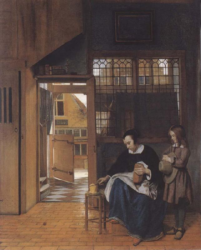 Pieter de Hooch The sandwich fur the school