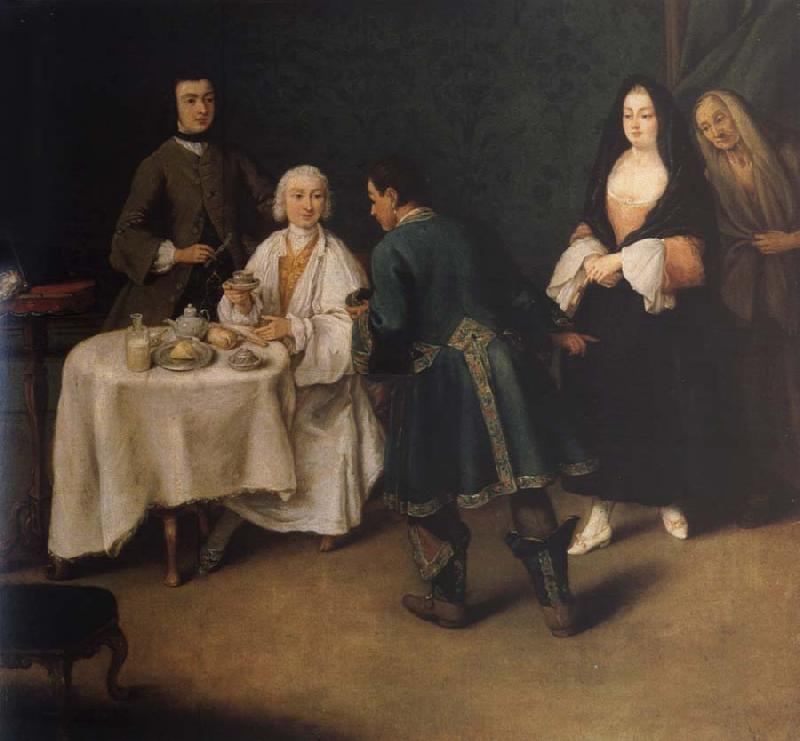 Pietro Longhi The visit in the lord